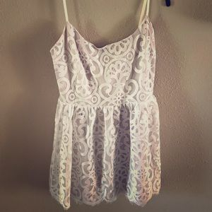 White Baby Doll Lace Dress